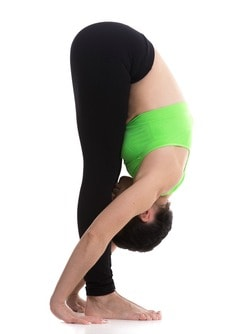 forward fold yoga pose for beginners
