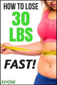How to lose 30 lbs FAST through scientific facts | Avocadu.com