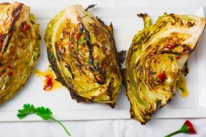roasted cabbage wedges dinner recipe