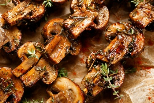 mushroom skewers weight loss recipes