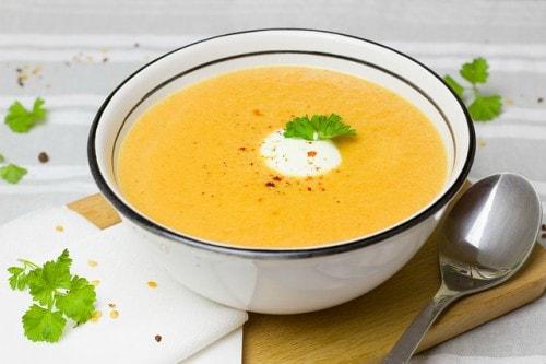 carrot veggie soup under 300 calories