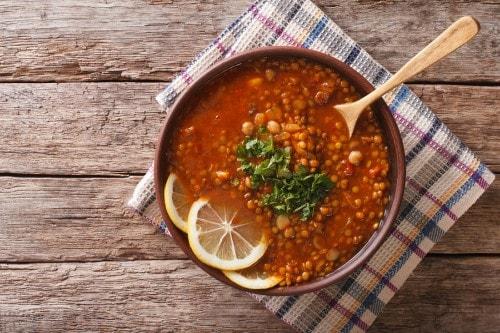 healthy lentil veggie soup recipe