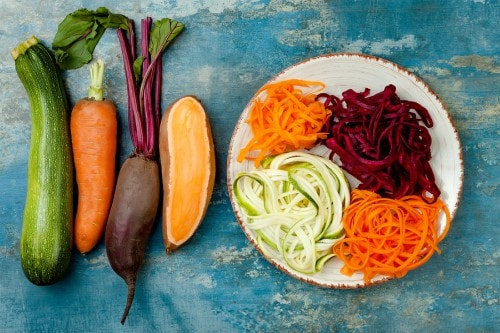 veggie noodles are a great substitute for pasta in healthy paleo dinner recipes
