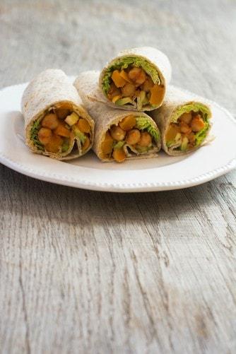 chickpea wraps healthy freezer meals