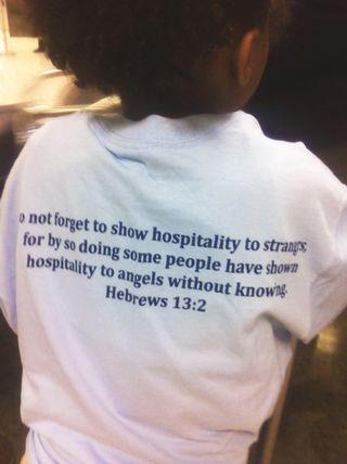 Welcoming angels hosting