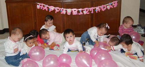Eight china girls birthday