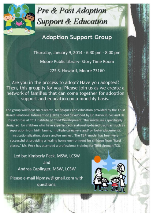 Adoption Support Group Flyer Jan 2014