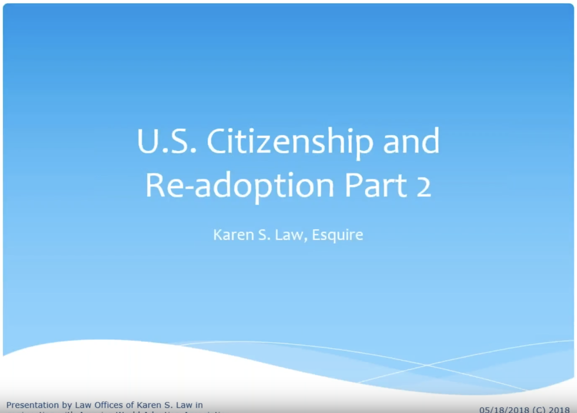 citizenship & readoption