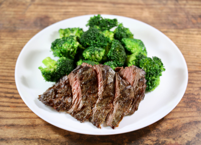 Grass Fed Sirloin with Broccoli