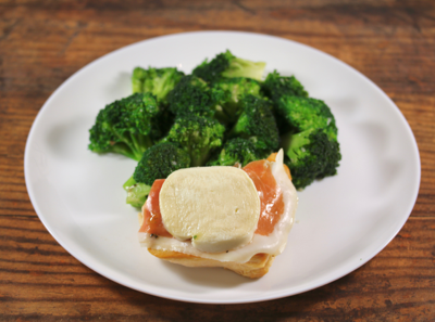 Chicken Saltimbocca with Broccoli