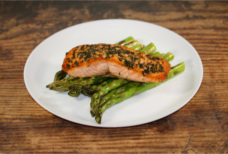 Wild Salmon with Grilled Asparagus