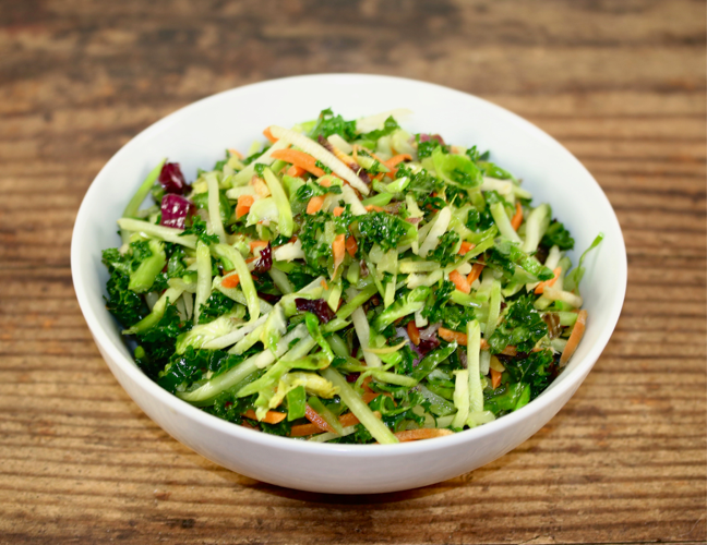 Sauteed Shredded Power Greens (Kale, Brussel Sprouts, Cabbage)