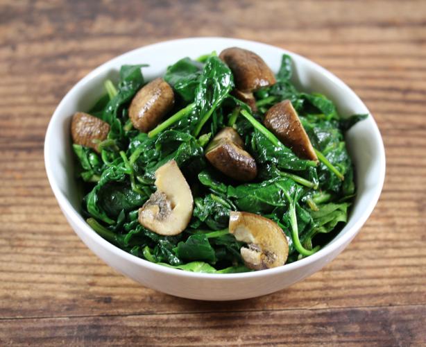 Garlicky Spinach and Mushrooms