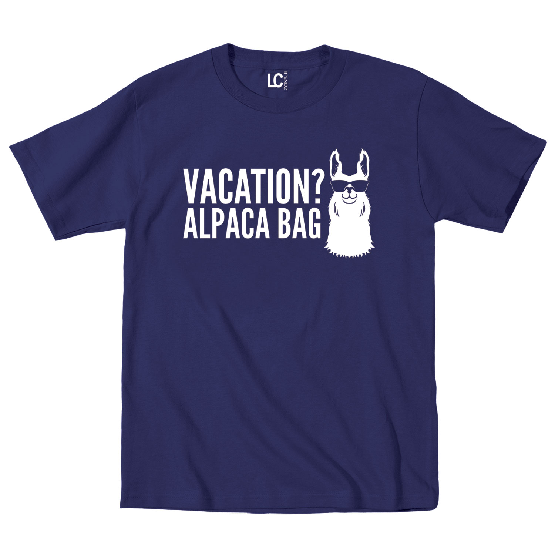 vacation alpaca bag animal humor funny beach vacation. Black Bedroom Furniture Sets. Home Design Ideas