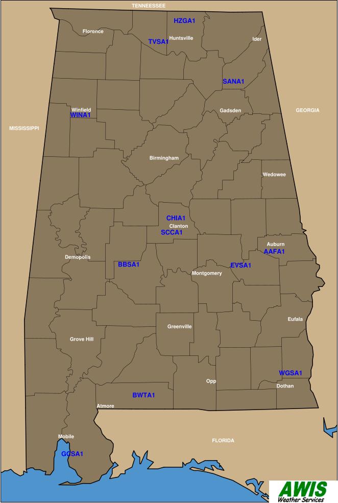 AWIS map