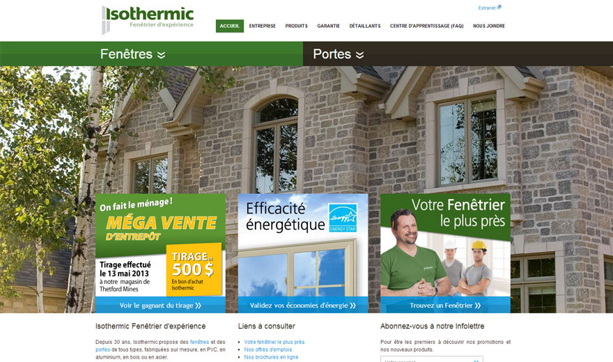 Portes et fenêtres Isothermic