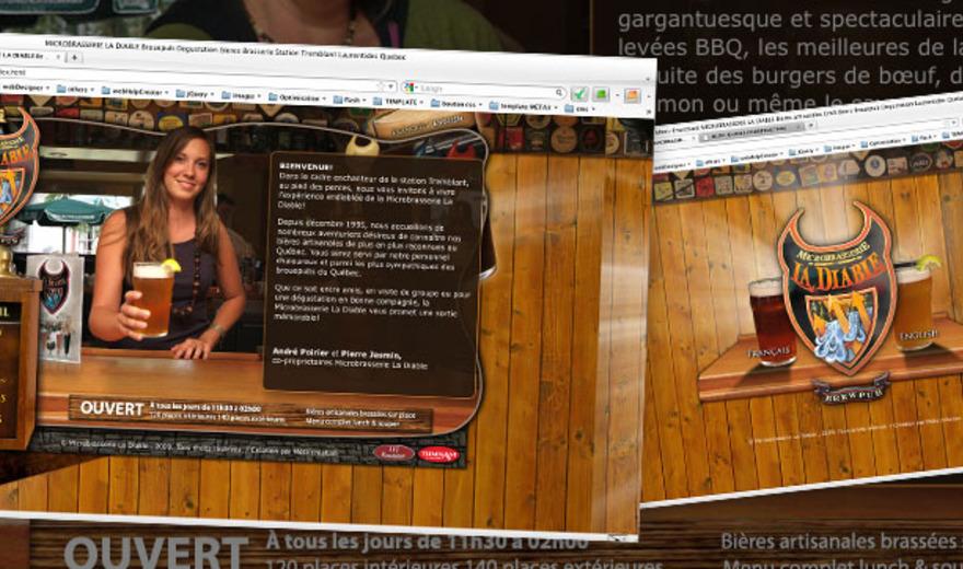 Création de site web - Microbrasserie La Diable