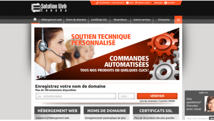 Site web de Solution Web Canada