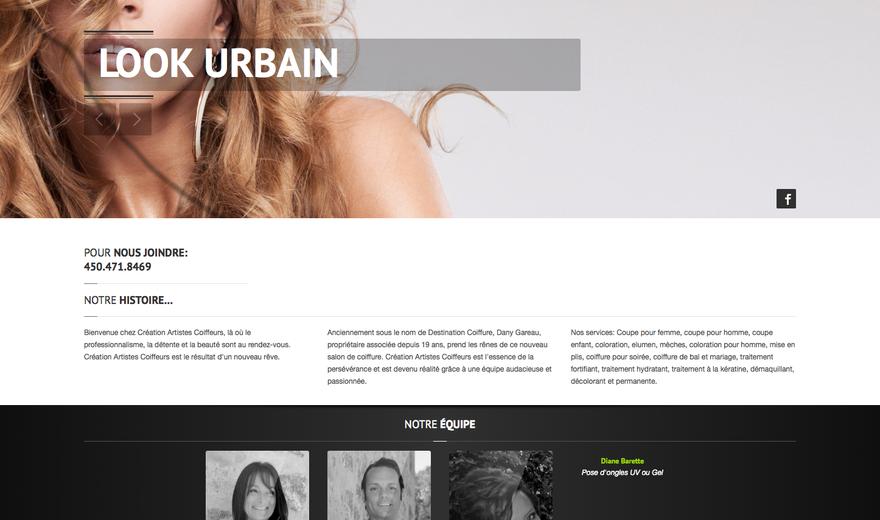 Site Web CRÉATION ARTISTES COIFFEURS