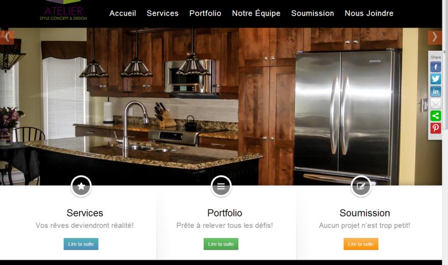 Site web de Atelier SCD agence de design d'intérieur