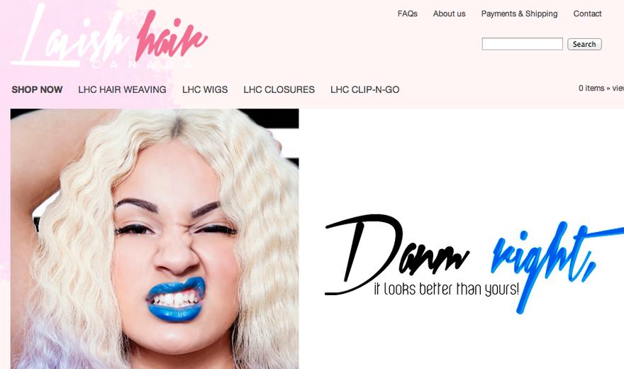Création d'un site Internet - Lavish Hair Canada