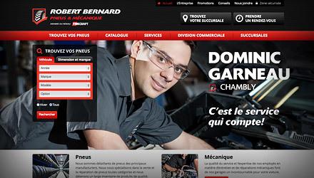 Pneus Robert Bernard - Refonte du site Web