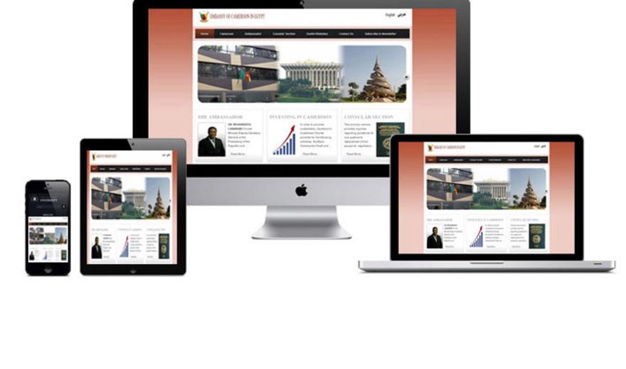 Site institutionnel et E-visa: Ambassade du Cameroun en Egypte