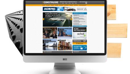 CONSTRUCTION - Site de nouvelles (100% responsive)