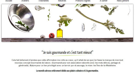 Site web - Gourmande de nature