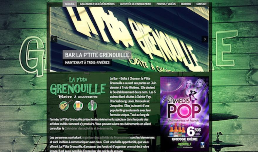 La P'tite Grenouille - Site Web