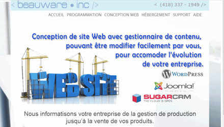 Site de beauware inc.