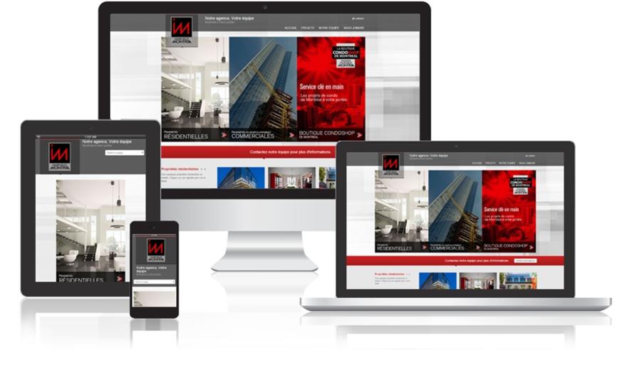 Conception Site Web à Montréal - Immeubles Montria