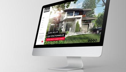 Site web parallax - Habitations MALIE