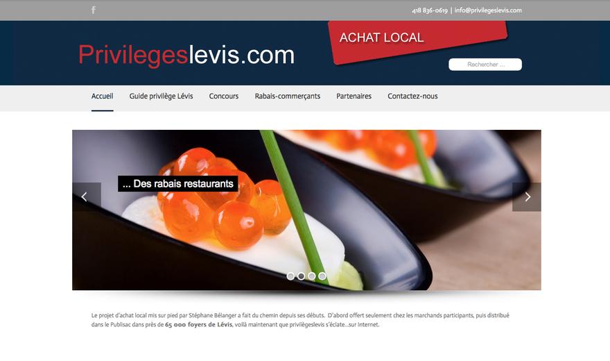 Exemple : site d'achat local Lévis