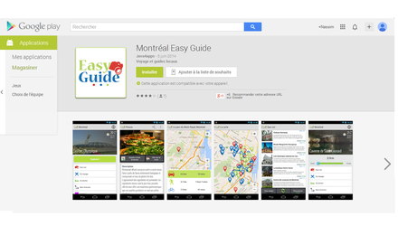 Application mobile Tourisme à Montréal