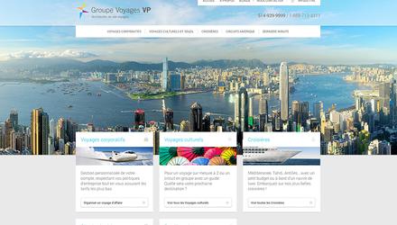 Refonte du site de Groupe Voyages VP