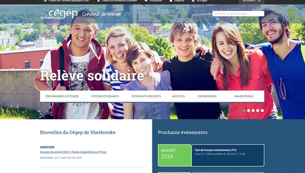 Refonte du site Web du Cégep de Sherbrooke