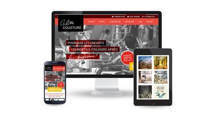Arlette Cousture - portail Web littérature (W3 Award 2014)