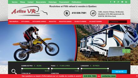 Site web de concessionnaire de roulotte à Québec