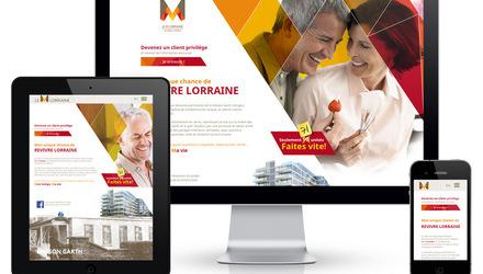 Site 100% responsive pour les condos  Le M Lorraine