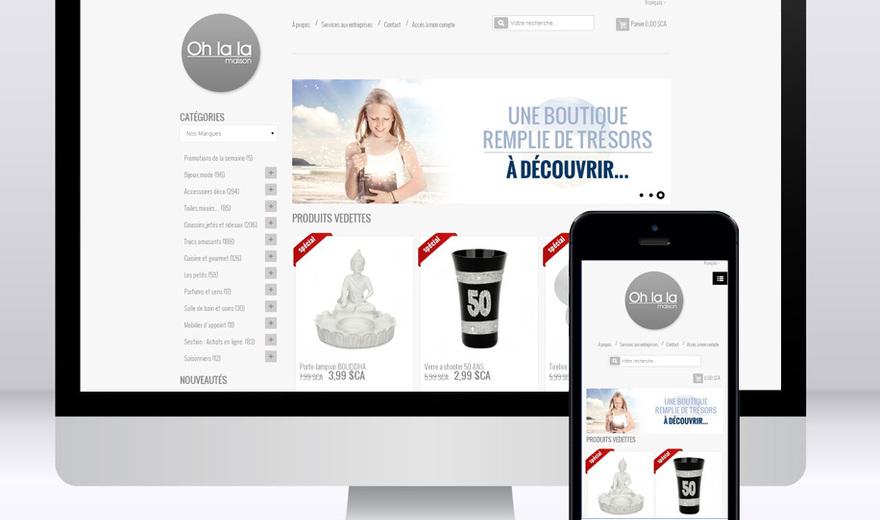 Site Magento responsive pour la boutique Ohlala Maison
