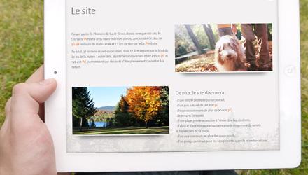 Site 100% responsive pour le projet immobilier Pimbina