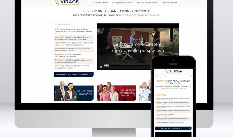 Site 100% responsive pour le Groupe Virage