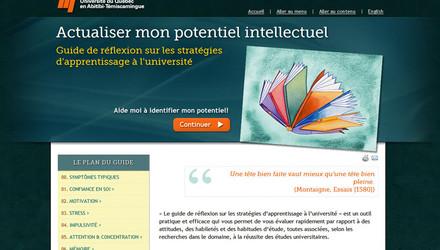 Site Web pour l'Université du Québec en Abitibi-Témiscamingue