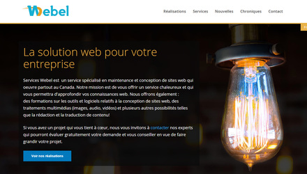 Notre site web : http://serviceswebel.ca/