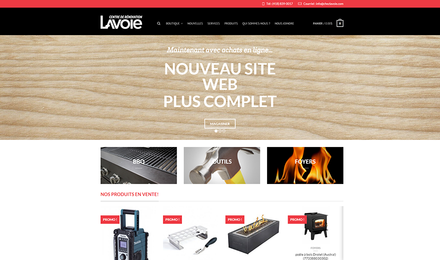 Design et programmation web, Commerce en ligne, Wordpress
