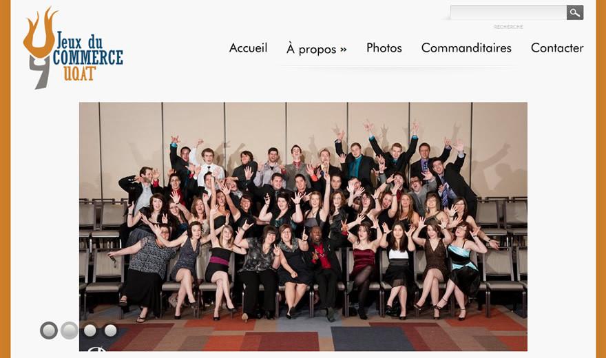 Site Web pour les Jeux du commerce, UQAT