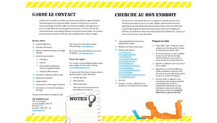 Guide imprimé pour le Carrefour Jeunesse Emploi d'Abitibi-Ouest