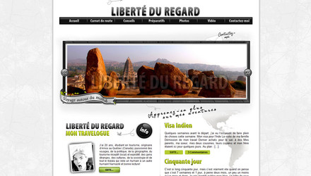 Liberté du regard, un travelogue personnel
