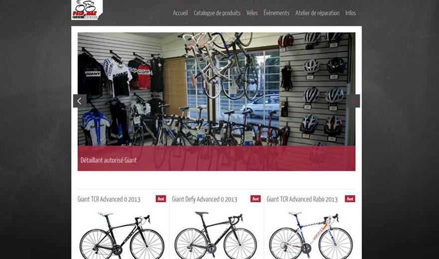 Conception de site web - Velo2max.ca
